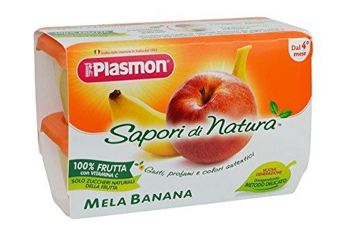 Plasmon Omogeneizzato di Frutta Mela-Banana Sdn - 24 Vasetti da 100 gr