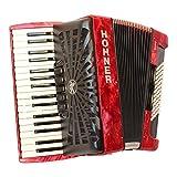 Hohner Accordéon Bravo Line Facelift III Piano chromatique avec housse de rangement 72 basses Red