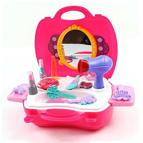 BOWA 21 Pezzi Finge i Giocattoli Trucco Carry Principessa Della Moda Custodia per i Bambini 3 Anni +