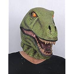 Máscara látex dinosaurio adulto - Única