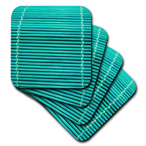 3dRose türkis Bambus-Soft Untersetzer, Set von 8(CST 17779_ 2) Bambus Coaster Set