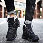 UBFEN Mens Womens Snow Boots Winter Warm Plush Booties Outdoor Sports Walking Hiking High Top Shoes 14