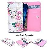 ZeWoo PU Leder Brieftasche - GT07 / (5#) Rose (Groß) - für Mobistel Cynus F6 (5 Zoll) Tasche Hülle