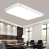 MCTECH® 48W Kaltweiß LED Deckenleuchte Deckenlampe Doppelte-Schichten Modern Panel Leuchte Flur Wohnzimmer bad Küche Schlafzimmer Küche Energie Sparen Licht Wandleuchte Lampe (48W Kaltes Weiß)