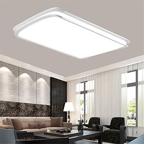 MCTECH® 48W/64W/96W Kaltweiß/Warmweiß/Dimmbar LED Deckenleuchte Deckenlampe Doppelte-Schichten Modern Panel Leuchte Flur Wohnzimmer bad Küche Schlafzimmer Küche Energie Sparen