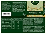 Papaya Enzymes by Vegavero | 500 mg per Capsule, High Dosage | Vegan Society Approved | Made in Germany