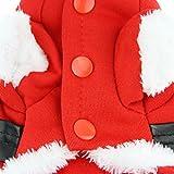 Super weich Fleece Hundemantel Hundejacke Hundepullover mit Kapuze Winter Herbst Hundebekleidung Weihnachten Hunde Kostüm Kleidung -