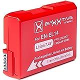 Baxxtar Pro batterie pour Nikon EN-EL14 EN-EL14a réel 1300mAh batterie intelligente pour D3100 D3200 D3300 D3400 D5100 D5200 D5300 D5500 D5600 etc.