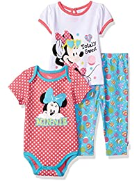 Disney Baby Girls Minnie Mouse 3-Piece T-Shirt