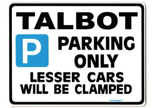 talbot-parking-sign-gift-for-sunbeam-lotus-alpine-avenger-car-models-size-large-205-x-270mm