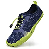 Troadlop Herren Fitnessschuhe Outdoor Trekking Schuhe Leicht Kletterschuhe Straßenlaufschuhe Blau-Grün 39