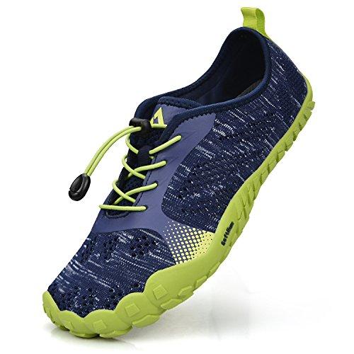 Troadlop Herren Fitnessschuhe Outdoor Trekking Schuhe Leicht Kletterschuhe Straßenlaufschuhe Blau-Grün 43