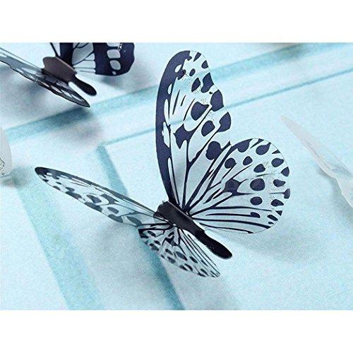 Entfernbare Wandtattoos,bobo4818 36 Stück 3D Schwarz Weiß Schmetterling Aufkleber Kunst Wandtattoo Wand Home Dekoration