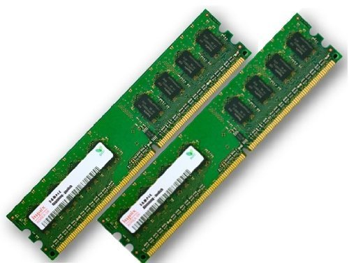 Arbeitspeicher 2GB PC2-6400 Kit (NON-ECC, 800 MHz, CL6, 240-polig, 2 x 1 GB) DDR2-SDRAM - Single Sided