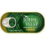 John West filets d'anchois à l'huile d'olive (liste 50g) - Paquet de 6
