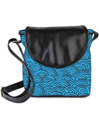 Snoogg Waves Background Womens Sling Bag Small Size Tote Bag