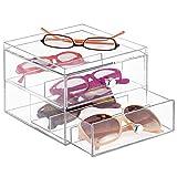 mDesign Aufbewahrungsbox für Brillen - die praktische 2er Schubladenbox als Brillen Ablage
