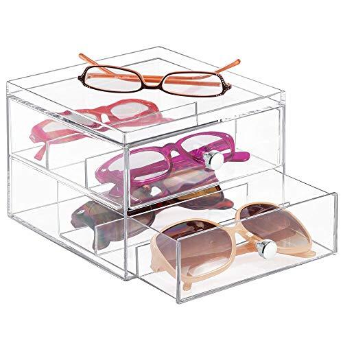 de9aa2de97 MDesign Organizador de gafas de sol y de leer con 2 cajones, el organizador  de gafas más barato ⭐