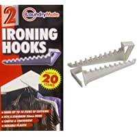 New 2x Over Door Ironing Hook Hanger Holds 20 Items Coats Shirts Trousers BNIB By Zonnix UK