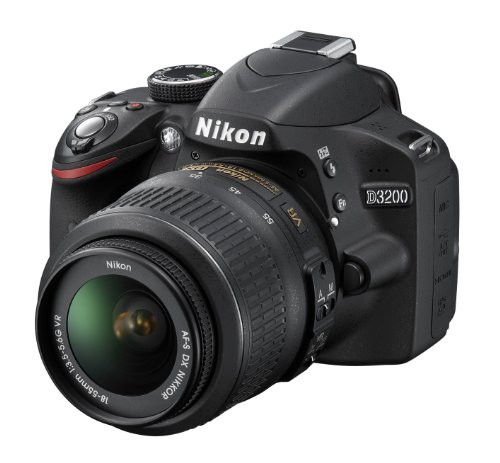 Nikon D3200 SLR-Digitalkamera (24 Megapixel, 7,4 cm (2,9 Zoll) Display, Live View, Full-HD) Kit inkl. AF-S DX 18-55 VR Objektiv schwarz - 2