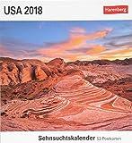 USA - Kalender 2018: Sehnsuchtskalender, 53 Postkarten