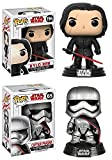 Funko POP! Star Wars The Last Jedi: Kylo Ren + Captain Phasma – Vinyl Bobble-Head Figure Set NEW