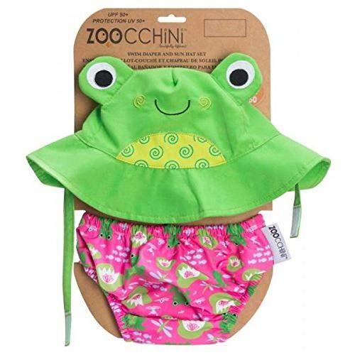 Zoocchini maillot/sombrero, diseño de rana, L 12-24 meses