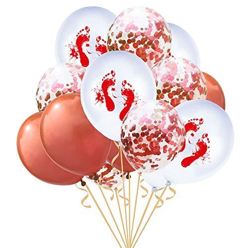 (Quaan niedlich kreativ glücklich Halloween Party 15 Stück 12 '' Halloween Konfetti Ballons Skelett Drucken Requisiten Party Dekor Supplie Mauer Ornament Halloween Familie Festival Dekorationen)