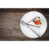 ELIH 6er Set, Flache Teller, Kuchenteller, Dessertteller, ca. 20cm, Weiß, Porzellan, LOU2120