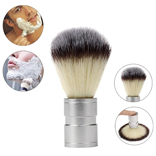 Yogogo Meilleurs Blaireau Rasage Brosse à Cheveux Hommes Pro Raser Barber Salon Bois Gérer Poils de Blaireau Argent A