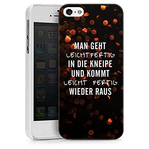 Apple iPhone X Silikon Hülle Case Schutzhülle Kneipe Humor Spruch Hard Case weiß