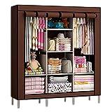 #10: Anva 4.1 feet (88130) Folding Wardrobe Cupboard Almirah Foldable Storage Rack Collapsible Cabinet