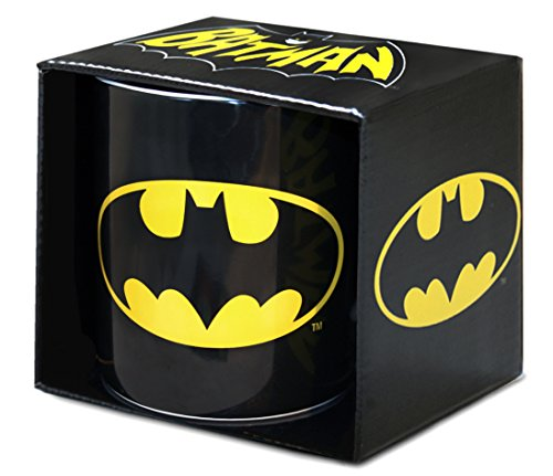DC Comics - Superheld - GC - Batman - Logo - XXL Porzellan Tasse - Kaffeebecher - schwarz - Lizenziertes Originaldesign - Logoshirt