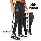 Kappa Pantalone Sportivo Uomo Nero/Bianco Banda M
