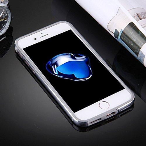 iPhone Case Cover Pour iPhone 7 Plus TPU + Cadre en aluminium de châssis en alliage ( Color : Black ) Grey