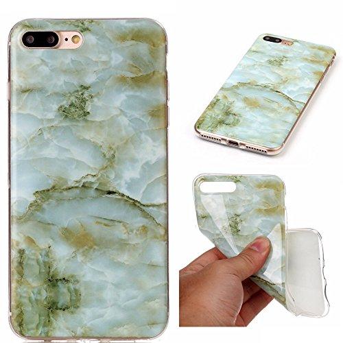 Wkae Case Cover Marble motif en pierre souple pour Apple IPhone 7 Plus IMD hybride TPU brillant souple en silicone protecteur Shell Retour Housse pour Apple IPhone 7 Plus ( Color : 1 , Size : IPhone 7 3