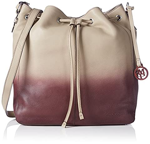 Marc O'Polo Drawstring Bag, Sacs bandoulière Femme - Beige (sand/plum 502), 35x30x17 cm (B x H x T)
