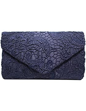 Gosear Damen Frauen Mädchen Mode Elegant Blütenspitze Umschlag Kupplung Abend Taschen Hand Taschen Einzelne Schultertaschen...