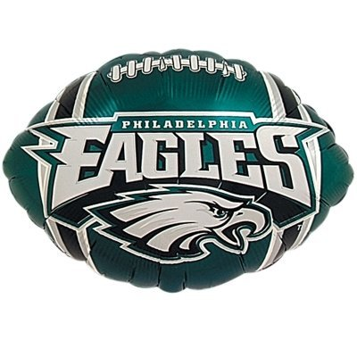 Eagle Flat (Anagram International Philadelphia Eagles Flat Party Balloons, 18 , Multicolor)