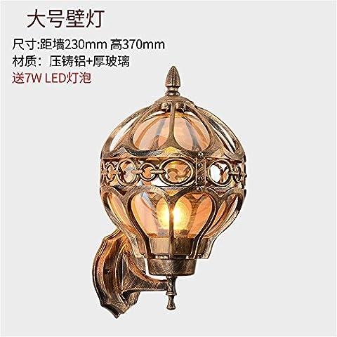 Jubaopen Cour extérieure lampe murale sur les lampadaires de style