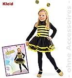 Biene Bienen Kleid mit Blume PB Bienchen Baby Kleinkind Kinder - Kostüm Babykostüm Kinderkostüm Gr 104 Fasching