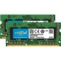 وحدة ذاكرة نوت بوك من كروشيال بسعة 4 جيجابايت دي دي ار 3 احادي 1600MT/s (PC3-12800) C1L11 سوديم 204 سناً 1.35 فولت/1.5 فولت CT51264BF160B 16GB kit (8GBx2) CT2KIT102464BF160B