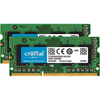 Crucial 16GB 2X 8GB Notebook Memory Upgrade PC3L-12800S SODIMM RAM DDR3L 1600Mhz