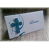 Fisch 1 Tischkarte Platzkarte inkl Wunschgravur Kommunion Konfirmation Taufe