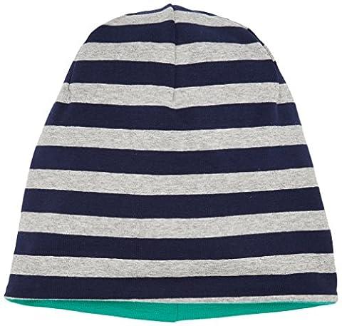 maximo Unisex Baby Mütze Beanie middle, reversible 73500-875300, Gr. 49, Mehrfarbig (mood indigo-ermelino (Reversible Sonnenhut)