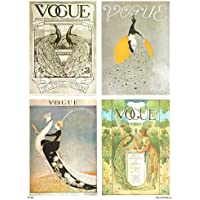 Vogue Vintage Covers Pop Art Poster Print Multi Birds (PDP 025) preiswert