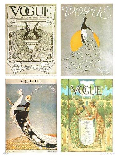 onthewall Vogue Vintage-Covers-Pop Art Poster Druck Multi Birds (PDP 025) Vintage Vogue