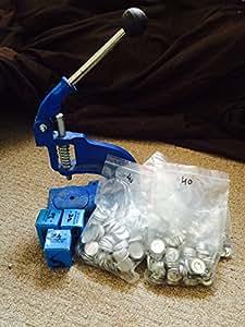 Bargains4you Kit de démarrage pour faire des boutons avec le revêtement autocollant 3 jeux de boutons et 3 matrices