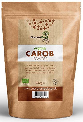 Natures Root Carob Puder, Kakao, Ersatz, Raw | Vegan | Glutenfrei -