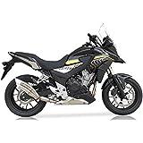 ixrace 2acero inoxidable endtopf Honda CBR 500R/CB 500F, 13–15, CB 500X, 13–16, dualexit Certificado, E. No Para Vehículos